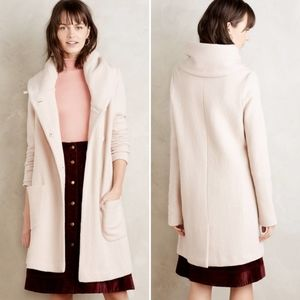 Anthropologie Moth Boiled Wool Sweater Coat